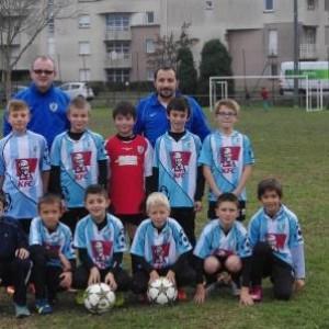 Debout de gauche à droite : Elouan, Jean-Michel (coach), Alexandre, Mateo, Richard(coach), Anthony, Antoine. Assis de gauche à droite : Dorian(blessé), Maati, Kevin, Nicolas, Mathis, Gael.