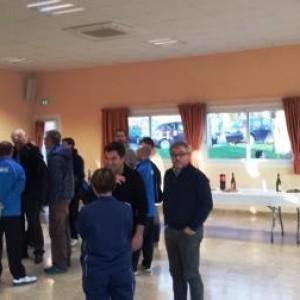 François Martin, président du LFC, décontracté avant son intervention ....
