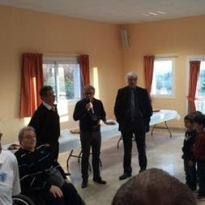 François Martin, entouré de Marc Mengaud, Paul Zenatti et Christian Payrastre
