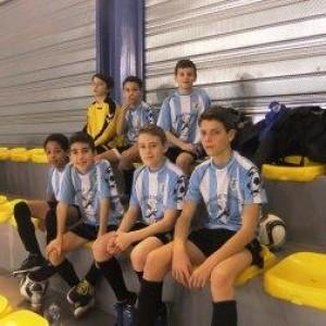 En haut, de gauche à droite: Nathan, Alex, Mathis. En bas de gauche à droite : Yannick, Khélian, Mathéo, Pablo