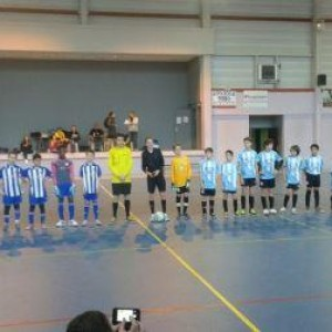 présentation des joueurs avant la finale perdue contre Mondonville.
